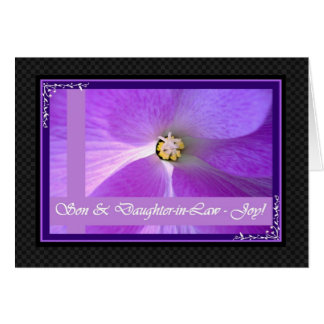 SON & Daughter-in-Law Wedding Congratulations Greeting Card