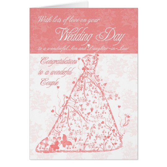 Wedding Day Gift For Daughter-In-Law : Son & Daughter-in-Law wedding day congratulations Card Zazzle