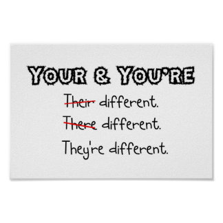 Son diferentes. Poster Póster