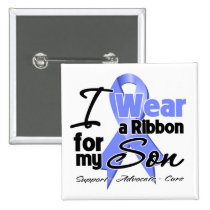 Son - Esophageal Cancer Ribbon Pinback Buttons