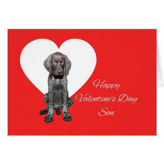 Son Glossy Grizzly Valentine Puppy Love Card