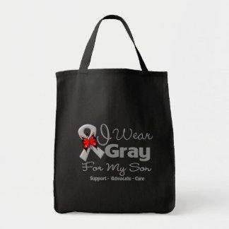 Son - Gray Ribbon Awareness Bags