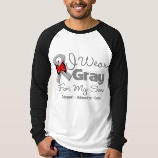 Son - Gray Ribbon Awareness T-shirt