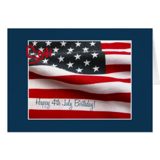Son Happy 4th July birthday Card