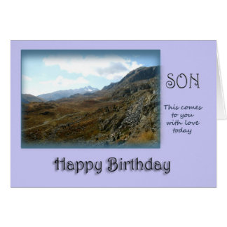 Son Happy Birthday - Mountain top Card