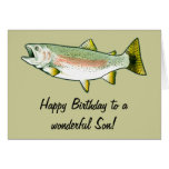 Son Happy Birthday: Rainbow Trout Card