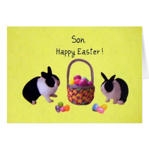Son, Happy Easter Greeting Cards