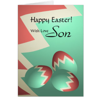 Son / Happy Easter - Pastel Easter Eggs Card