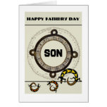 Son / Happy Father's Day - Mayan / lizards Card