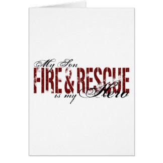 Son Hero - Fire Rescue Greeting Cards