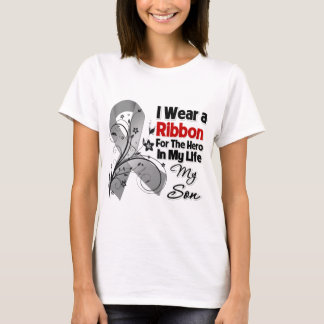 Son Hero in My Life Brain Cancer T-Shirt