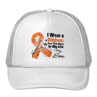 Son Hero in My Life Leukemia Mesh Hats