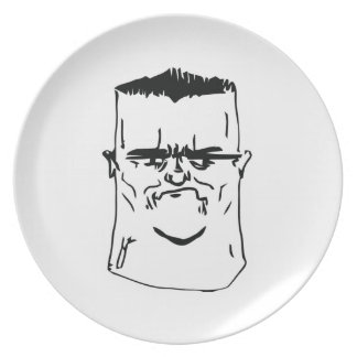 Son I am Disappoint Comic Face Dinner Plates