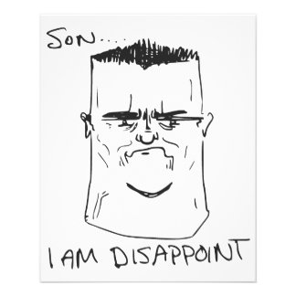 Son I Am Disappoint Father Rage Comic Meme Flyer