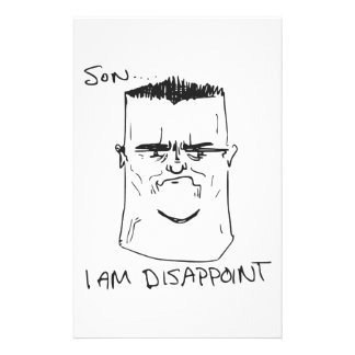 Son I Am Disappoint Father Rage Comic Meme Personalized Stationery