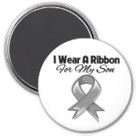 Son - I Wear A Gray Ribbon 3 Inch Round Magnet