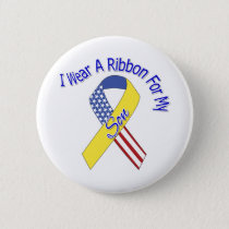 Son - I Wear A Ribbon Military Patriotic Pinback Button