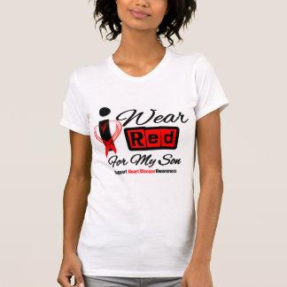 Son  -  I Wear Red Ribbon Heart Disease Tee Shirt