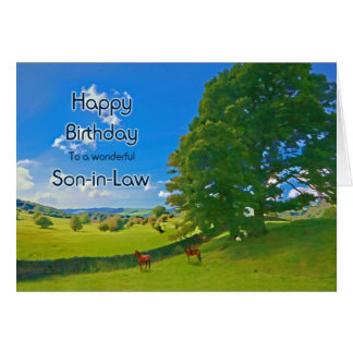 Son-in-Law, a Pastoral landscape Birthday card