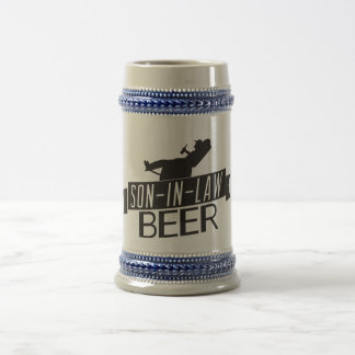 Son-In-Law Beer Stein Gray/Blue 18 Oz Beer Stein