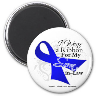Son-in-Law  Blue Ribbon - Colon Cancer 2 Inch Round Magnet