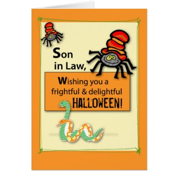 Halloween Themed Son-in-Law Bugs and Hisses Halloween Card