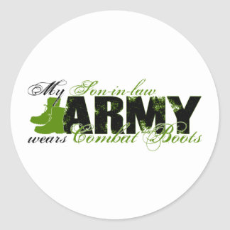 Son-in-law Combat Boots - ARMY Classic Round Sticker