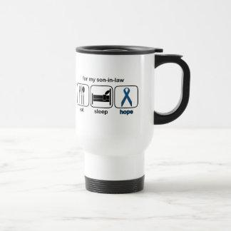 Son-in-law Eat Sleep Hope - Colon Cancer Travel Mug