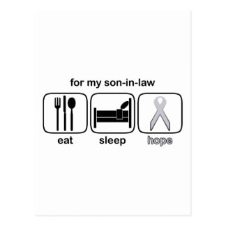 Son-in-law Eat Sleep Hope - Lung Cancer Postcard