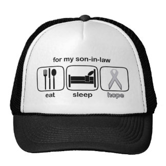 Son-in-law Eat Sleep Hope - Lung Cancer Trucker Hat