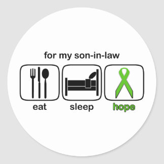 Son-in-law Eat Sleep Hope - Lymphoma Classic Round Sticker
