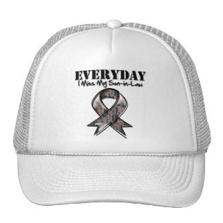 Son-in-Law - Everyday I Miss My Hero Military Trucker Hat
