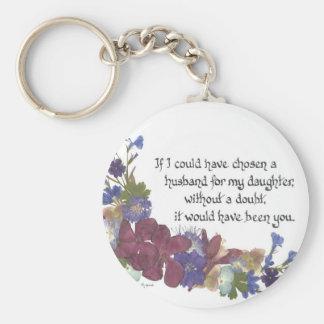 Son-in-Law gift Basic Round Button Keychain