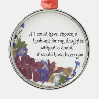 Son-in-Law gift Metal Ornament