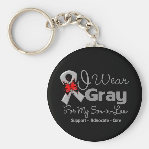 Son-in-Law - Gray Ribbon Awareness Keychain