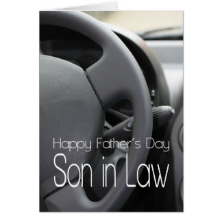 son in law Happy Father's Day Greeting Card