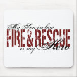 Son-in-law Hero - Fire & Rescue Mouse Pads