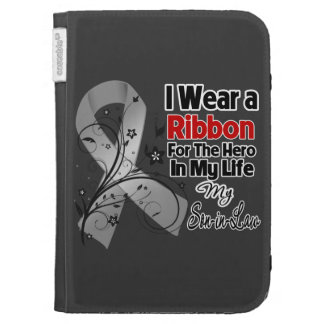 Son-in-Law Hero in My Life Brain Cancer Kindle Keyboard Case