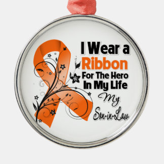 Son-in-Law Hero in My Life Leukemia Ornaments