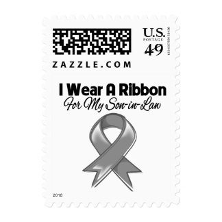 Son-in-Law - I Wear A Gray Ribbon Postage
