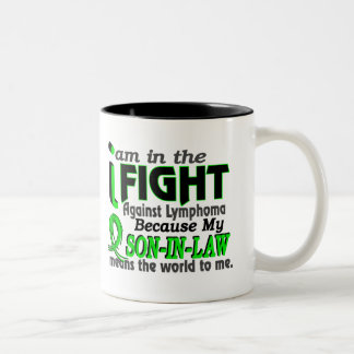 Son-In-Law Means The World To Me Breast Cancer Two-Tone Coffee Mug
