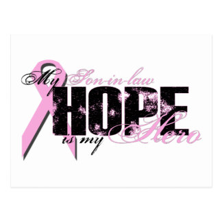Son-in-law My Hero - Breast Cancer Hope Postcard