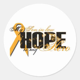 Son-in-law My Hero - Leukemia Hope Classic Round Sticker