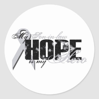Son-in-law My Hero - Lung Hope Classic Round Sticker