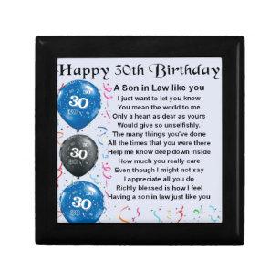 Son In Laws Birthday Gift Bo Keepsake Zazzle