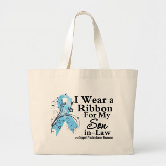 Son-in-Law Prostate Cancer Ribbon Jumbo Tote Bag
