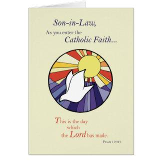 Son-in-Law RCIA Catholic Dove Sun Circle, Rite of Card