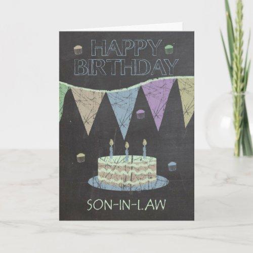 Son_in_Law Trendy Chalk Board Effect Card