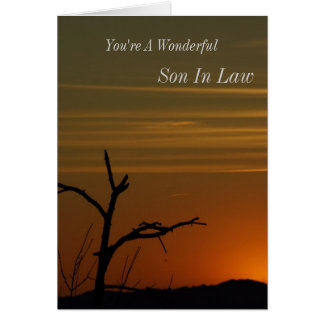 Son In Laws Sunset Greeting Card