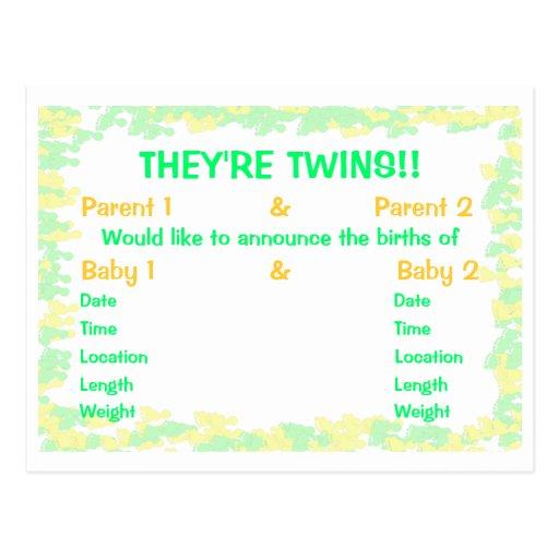 Son invitación del bebé de las huellas de los tarjetas postales